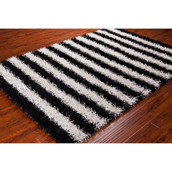 black and white shag rugs