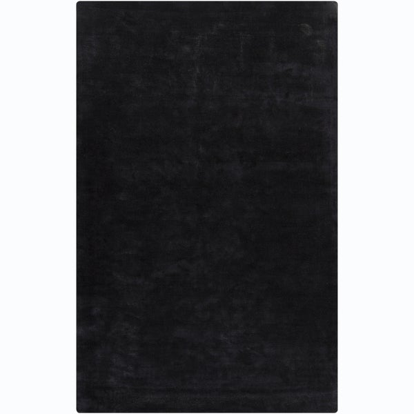 Mandara Hand-woven Black Rug
