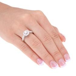 14k White Gold 1ct TDW Certified Diamond Engagement Ring (F-G, I1-I2)