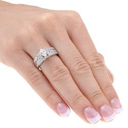 Eloquence 14k White Gold 1 1/2ct TDW Diamond Engagement Ring (H-I, I1-I2)