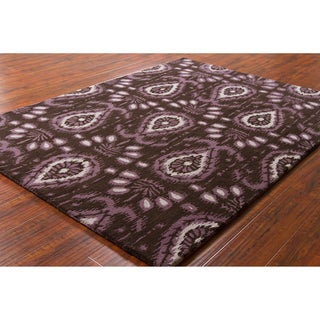 Mandara Brown Hand-Tufted Abstract Wool Rug