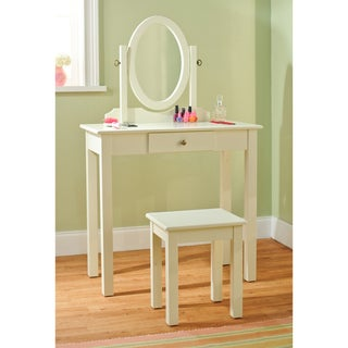 Vanity Table with Mirror and Stool 3-piece Set