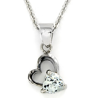Stainless Steel Cubic Zirconia Heart Necklace