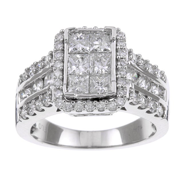 14k White Gold 2ct TDW Diamond Engagement Ring (H-I, I1-I2)