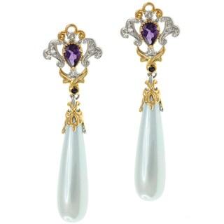 Michael Valitutti Two-tone Gemstone Earrings