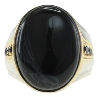 Michael Valitutti Two-tone Men's Jasper Ring
