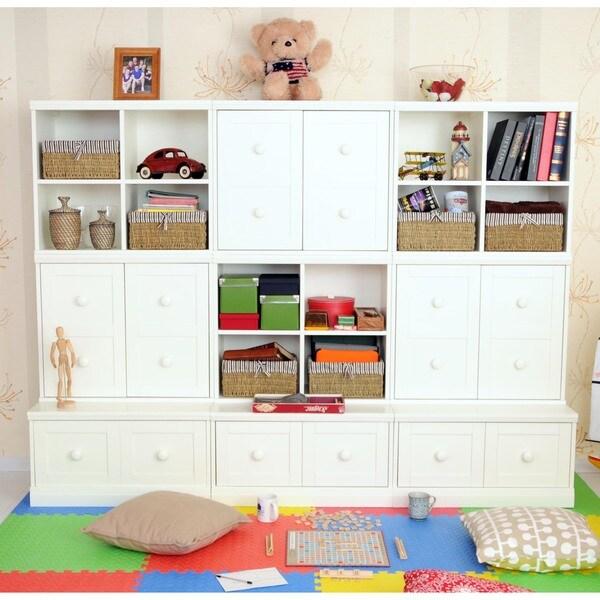 Makena Modular Storage-9 Piece Drawer Base/Shelf Cubby/Quad Cubby