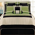 Gramercy Queen-size 12 Piece Olive Bed in a Bag with Sheet Set
