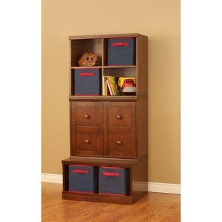 Makena Modular Storage-3 Piece Open Base/Shelf Cubby/Quad Cubby