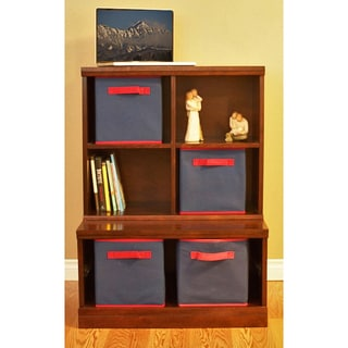 Makena Modular Storage-2 Piece Open Base/Quad Cubby