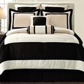 Gramercy Queen-size 12 Piece Black Bed in a Bag with Sheet Set