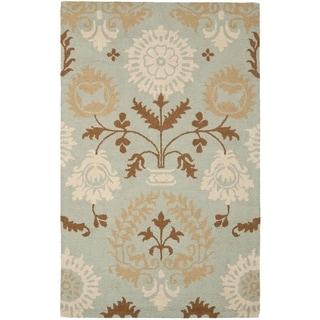 Safavieh Handmade Blossom Blue Wool Rug