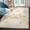 Safavieh Handmade Blossom Blue Wool Rug