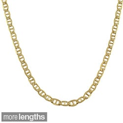 Fremada 14k Yellow Gold-filled Mariner Link Chain Necklace (18- 36 inch)