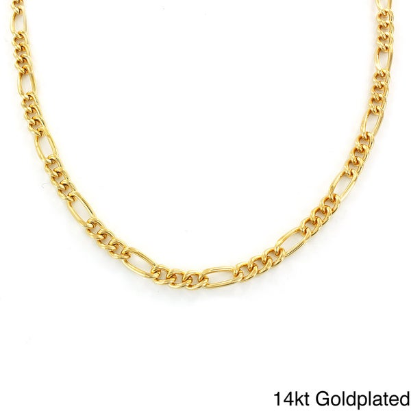 Men's Brass Figaro Chain Necklace