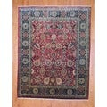Indo Hand-knotted Red/ Black Mahal Wool Rug (8' x 10')