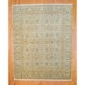 Indo Hand-knotted Light Green/ Tan Mahal Wool Rug (8' x 10')