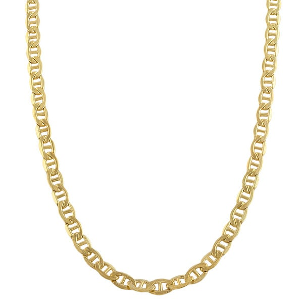 Fremada 14k Yellow Gold-filled Mariner Link Chain Necklace (18-36 inch) 10645444