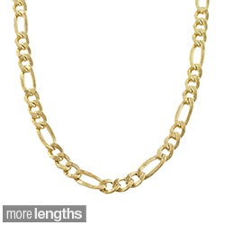 Fremada 14k Yellow Gold-filled Figaro Link Chain Necklace (18-36 inch)