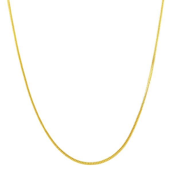 Fremada 10k Yellow Gold Square Fox Chain Necklace (16-20 inch)