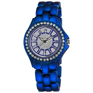 Vernier Women's Fashion Blue Soft-touch Dazzling Dial Bracelet Watch