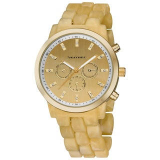 Vernier Women's Boyfriend Soft-touch Resin Bone Faux-Chrono Watch