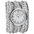 Vernier Women&#39;s Fashion Triple Wrap Bead and Chain Quartz Watch