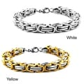 West Coast Jewelry Stainless Steel Byzantine Men&#39;s Bracelet
