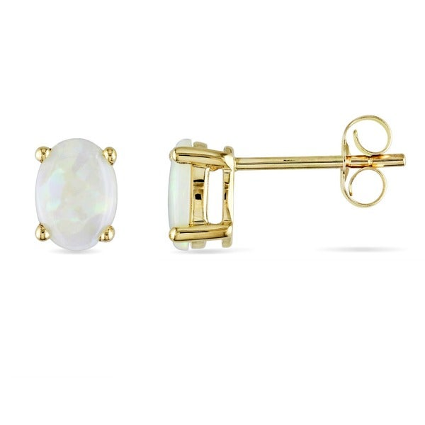 Miadora 10-kt. Yellow Gold Opal Earrings
