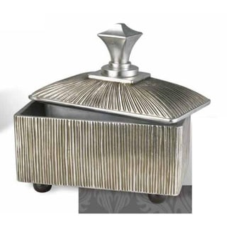 Silver 12-inch High Polyresin Box