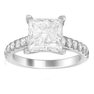 18k Gold 3 5/8ct TDW Certified Diamond Engagement Ring (F-G, I1)