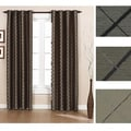 Brielle Home Argyle Grommet Lined Curtain Panel