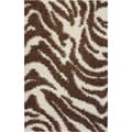 Shag Plush Zebra Brown Rug (3'3 x 5'3)