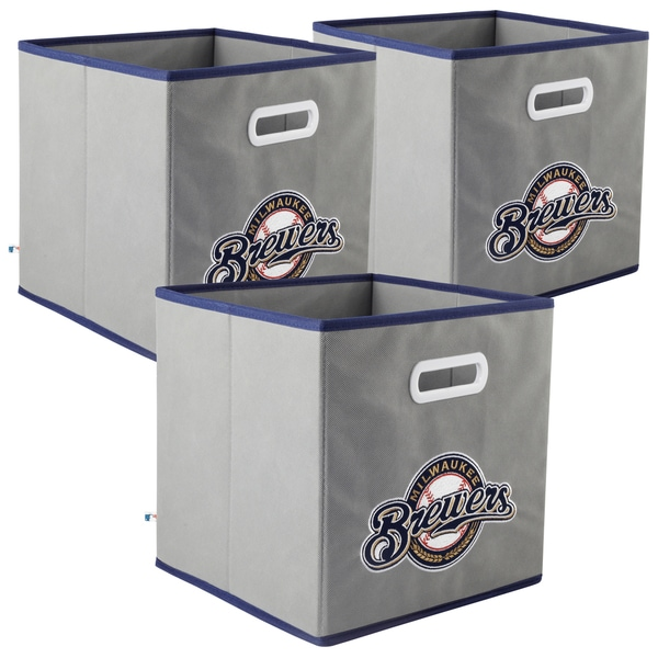 MLB Team Logo My Owner's Box Fabric Storage Drawer 3-piece Set