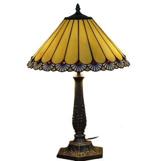 Handcrafted 'Touch Of Class' Stained Glass Tiffany Style Table Lamp