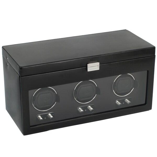 WOLF Heritage Module 2.1 Black Triple Watch Winder