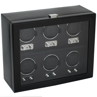 Heritage Six-watch Faux Leather Watch Winder