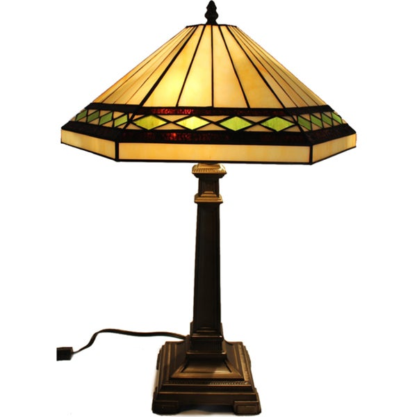GEO Handcrafted Stained Glass Tiffany Style Table Lamp