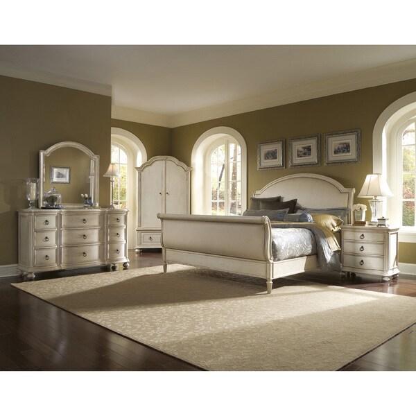 Provenance Upholstered Sleigh 4 Piece King Bedroom Set