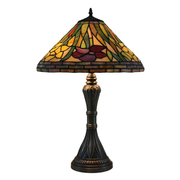 Daffodil Handcrafted Stained Glass Tiffany Style Table Lamp