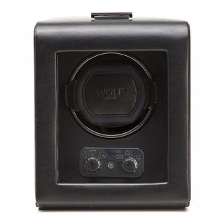 WOLF Heritage Module 2.1 Black Leather Single Watch Winder