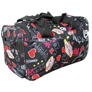 Rockland Deluxe 22-inch Black Las Vegas Carry-On Rolling Duffle Bag