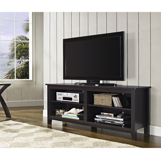 58 inch Espresso Wood TV Stand