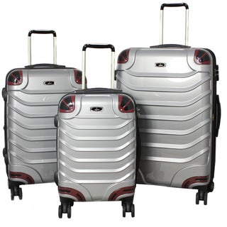 Innovator 3-piece Lightweight Hardside Grey Spinner Luggage Set with TSA Lock