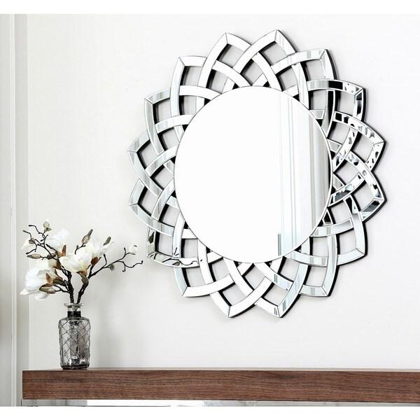 Abbyson Living Isabella Round Wall Mirror