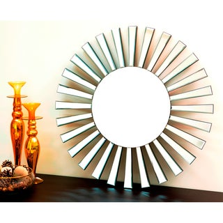Abbyson Living Soleil Round Wall Mirror
