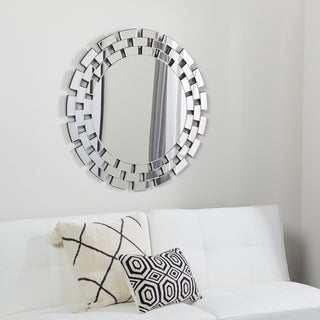 Abbyson Living Devon Round Wall Mirror