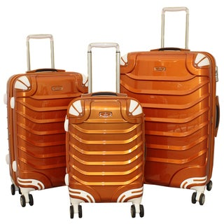 Innovator 3-piece Lightweight Hardside Metallic Rust Spinner Luggage Set with TSA Lock