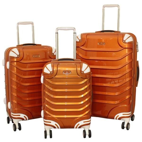 Innovator 3-piece Lightweight Hardside Metallic Rust Spinner Luggage Set with TSA Lock