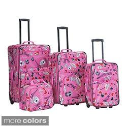 Rockland Las Vegas 4-piece Expandable Luggage Set